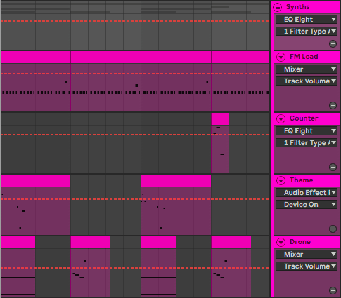 Live Arrangement View in Ableton Live 10