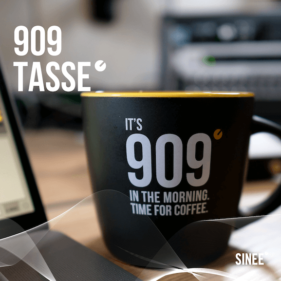 909 Tasse – Time For Coffee – Schwarz