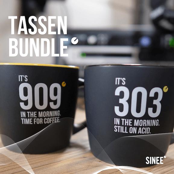 909 & 303 – Tassen Bundle – Schwarz