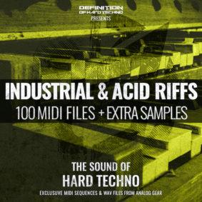 INDUSTRIAL & ACID RIFFS MIDI PACK + WAV SAMPLES