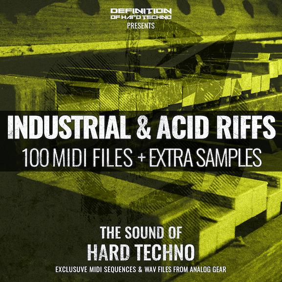 INDUSTRIAL & ACID RIFFS MIDI PACK + WAV SAMPLES 1